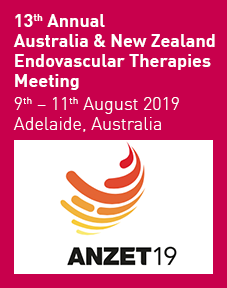 ANZET19 (13th Annual Australia & New Zealand Endovascular Therapies Meeting) 2019 Logo