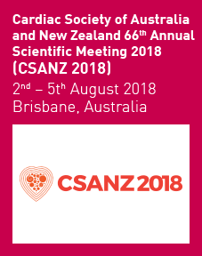 Cardiac Society of Australia and New Zealand 66th Annual Scientific Meeting 2018 Logo